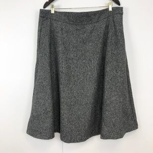 Modcloth Plus Size 1X (38W) Wide Wool Blend Skirt